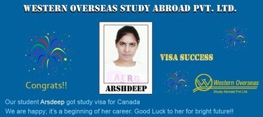 Arshdeep Canada Visa Success