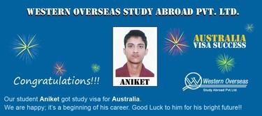 Aniket Australia Visa Success