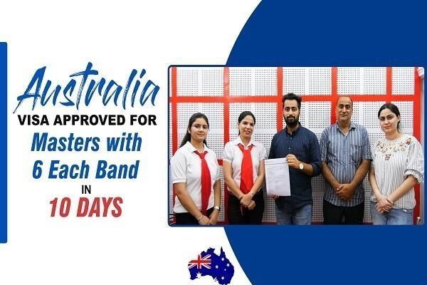 Abhijeet Singh Australia Visa in 10 Days with 6 Each Band