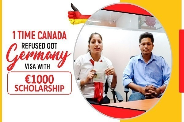 Aranpreet Singh got Germany visa 1 Time Ca Refused & 1000 Euro Scholarship Amritsar