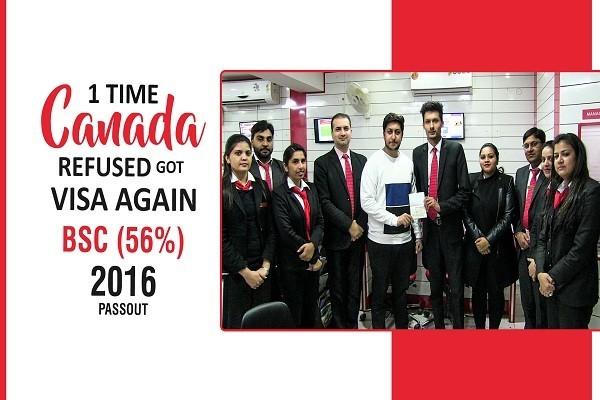 Deepak Bajaj Canada Visa 1 Time refused BSC 56 percent 2016 passout CHD