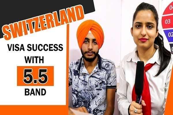 Gagandeep Singh Switzerland Visa with 5.5 band