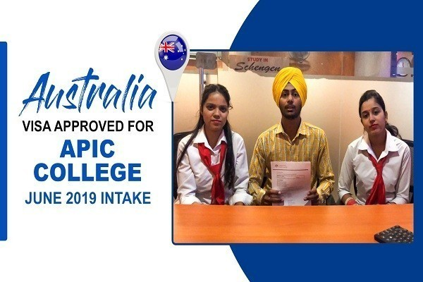 Gurpreet Singh Australia Visa of APIC College Amritsar Branch