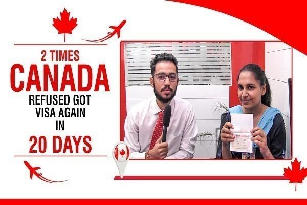 Prabhjot Kaur Canada Visa 2 Times Refused CHD