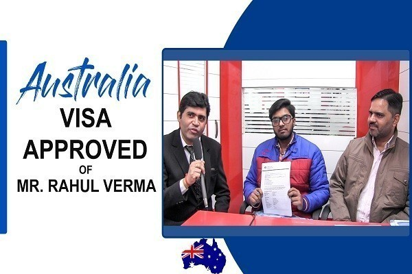 Rahul Verma Australia Visa in 20 Days of ATMC Federation University CHD