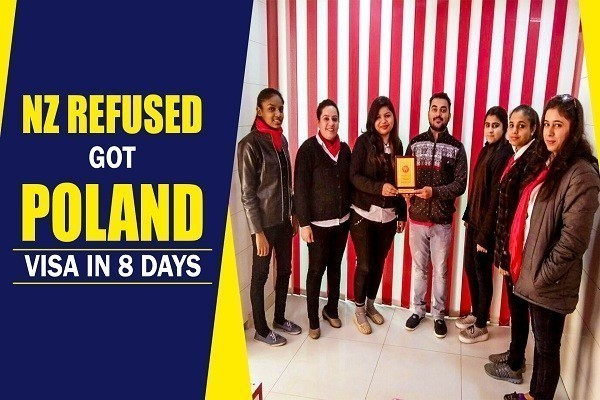 Ramanjit Singh got poland visa in 8 Days 1 time refused student