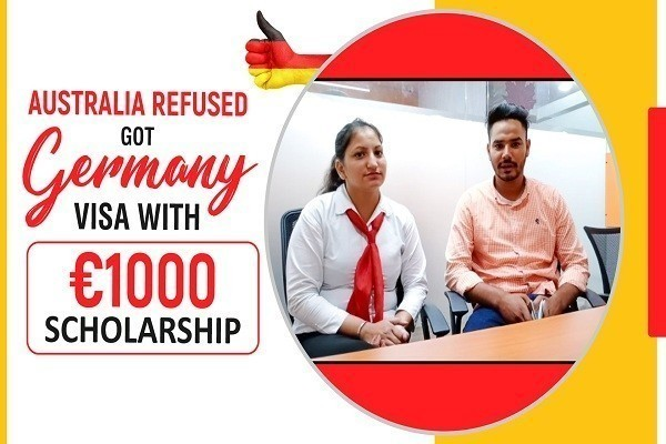 Ravinder Singh Germany visa 1 Time Australia Refused Scholarship 1000 Euro Amritsar