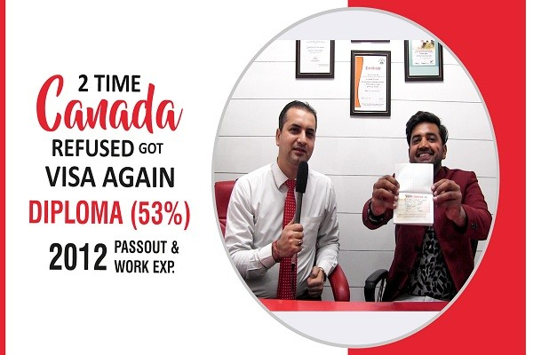 Roshan Canada Visa 2 Time Refused 2012 passout with 53 percent CHD