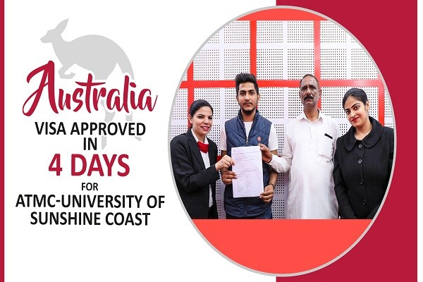 Sahil Australia Visa Approved in 4 Days for ATMC-University of Sunshine Coast
