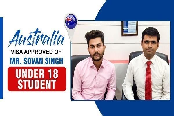Sovan Singh Australia Visa Under 18 Student Karnal Branch