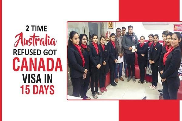 Sunit Canada Visa 2 time australia refused & visa in 15 Days Jalandhar Branch
